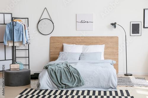 Fototapeta Stylish interior of modern bedroom obraz