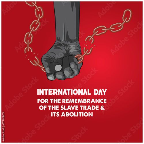 International Day For the Remembrance Of the slave trade & its abolition Canvas Print