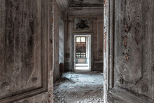 Abandoned Mansion Interior. Ha...