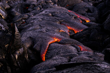 Lava In Hawaii Flowing Into Oc...