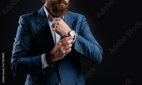 Fototapeta Accessory luxury watch businessman wrist, jewelry gift concept obraz