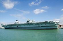 Queen Elizabeth Aircraft Carrier, Side View