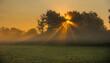 canvas print picture - Früherbstlicher Sonnenaufgang im Ried nahe Kappel-Grafenhausen in der ortenau