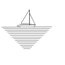 Shape Of Yacht On Water.