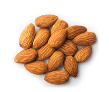 Pile Of Almonds Seeds
