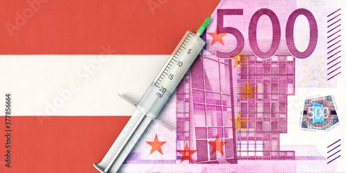 Fototapeta Gesundheitswesen und Kosten in Österreich obraz