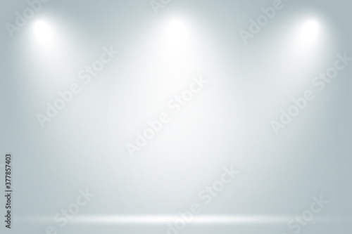 Empty space room of White stage with spot lighting in gray background Fotobehang