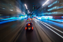Abstract Of Light Trails From ...
