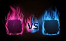 Glowing Versus Screen. Pink Vs...