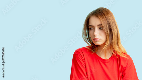 Fotografie, Obraz Unhappy woman portrait
