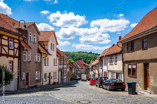 Fotografie, Obraz Treffurt, Dorf in Thueringen, Ostdeutschland,