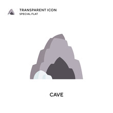 Cave Vector Icon. Flat Style Illustration. EPS 10 Vector.