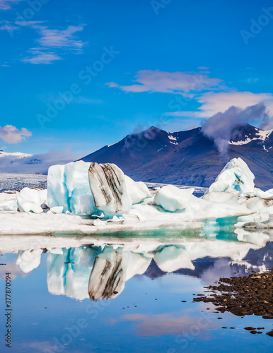 Canvas Print Drift ice in Jokulsarlon