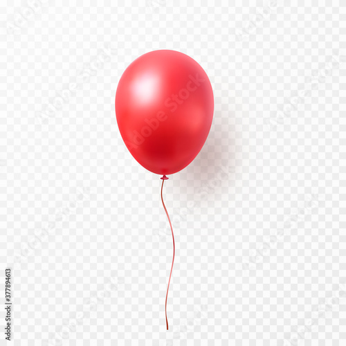Fototapeta Balloon isolated on transparent background