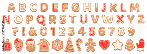 Fototapeta Gingerbread alphabet