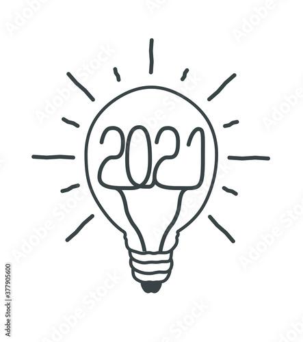 Vœux ampoule 2021 2