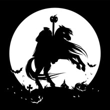 Headless Horseman, Spooky Halloween Character