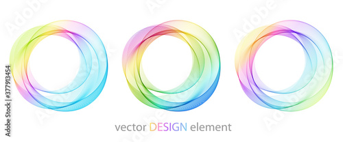 Abstract shiny color spectrum round design element Canvas
