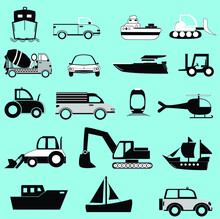 Transportation Set Icon