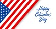 Happy Columbus Day animated greeting card or banner with handwriting text
