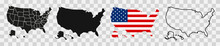 USA Map With States. Vector Il...