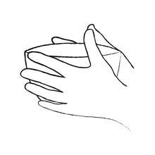 Vector Illustration Of Hands H...