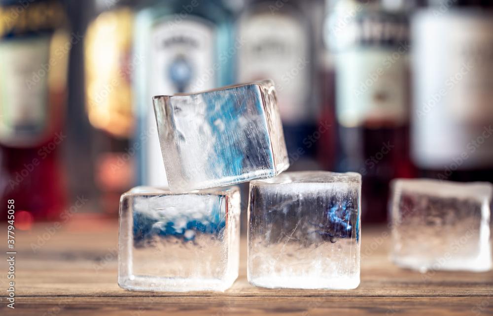 Fototapeta Crystal clear ice cubes