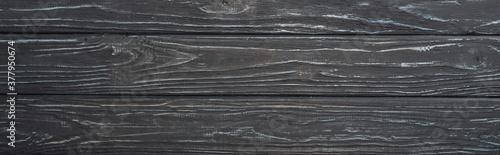 top view of grey wooden surface, panoramic shot Fototapeta