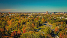 Autumn Aerial View Of The City Of Allentown, Pennsylvania