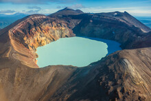 Maly Semyachik Volcano Crater ...