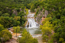 Beautiful View Of Turner Falls In Central Oklahoma