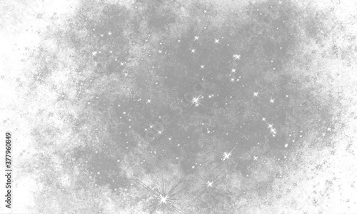 Fotografia black and white grunge space grainy background with noise and stars