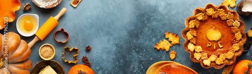 Fotografie, Obraz Traditional American Pumpkin Pie for Thanksgiving Day