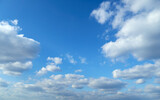 Fototapeta Na sufit - sky and clouds as background during the day, bright and beautiful