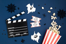 Movie Clapperboard And Hallowe...