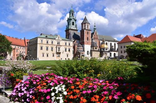 Fototapeta Wawel Zamek Królewski na Wawelu w Krakowie, obiekt wpisany na listę UNESCO