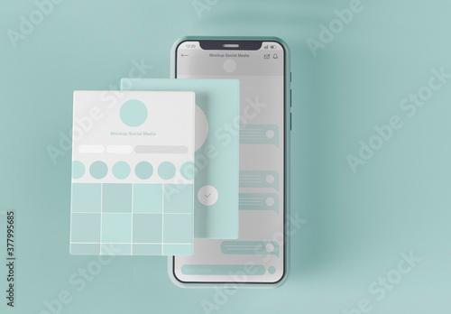 Smartphone with Screen Set Mockup