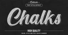 Editable Text Style Effect - Chalk Theme Style.