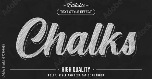 Fototapeta Editable text style effect - Chalk theme style. obraz