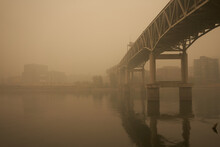 The Marquam Bridge Over The Wi...