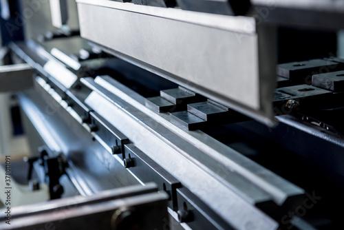 Fototapeta Modren hydraulic bending machine at metal manufactory obraz