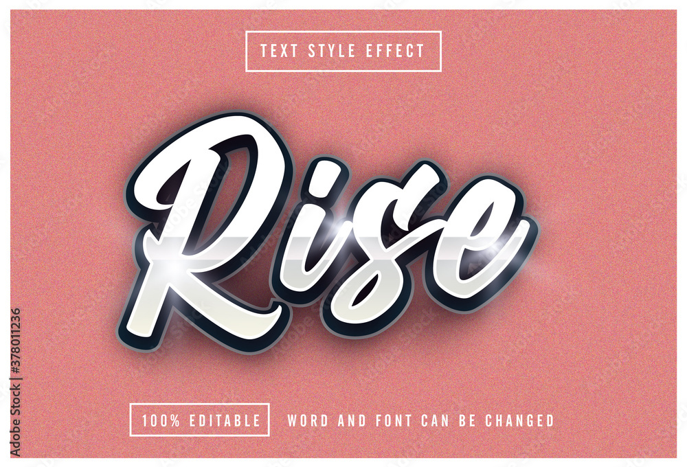 Fototapeta Rise text effect editable premium download