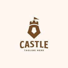 Castle Logo Concept. Castle Tower Vector Illustration. Good To Use For Your Business