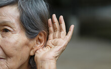 Elderly Woman Hearing Loss , H...
