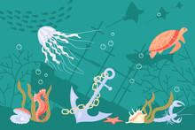 Undersea Fauna Of Tropics
