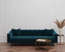Green Velvet Suede Tufted Sofa...
