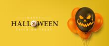 Happy Halloween Banner Or Part...