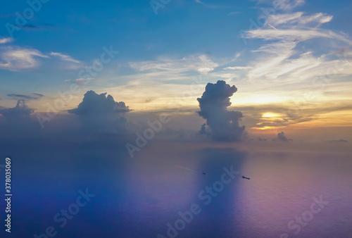 Obraz na plátně Dawn from above