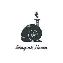 Stay At Home Design. Snail Wit...