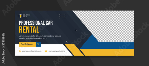 Fototapeta Rental car social media cover post template obraz
